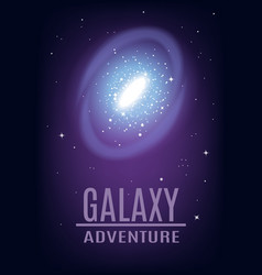 Cosmic galaxy adventure background vector