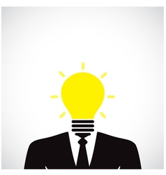 Creative light bulb with human head symbol vector image vector image