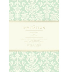 damask invitation card vector image vector image