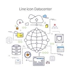Datacenter line vector