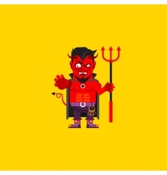 Devil character for halloween in a vector image