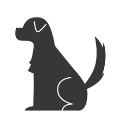 dog pet silhouette icon vector image