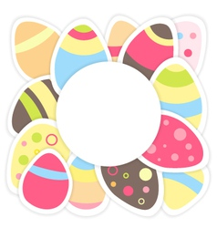 Easter eggs pattern on a white vector image vector image