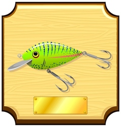 fishing lure vector image vector image