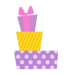 Gift box icon isolated vector image vector image