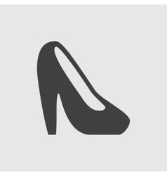 Heel shoe icon vector image vector image