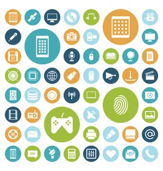 Icons for technology and media vector
