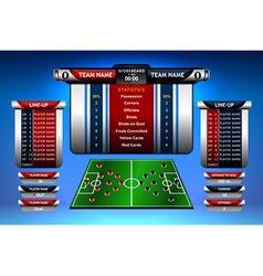 infographic scoreboard design vector image
