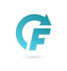 Letter f arrow logo icon design template elements vector