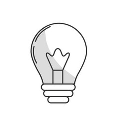 line light energy bulb to illumination vector image vector image