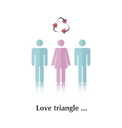 Love Triangle vector image
