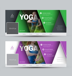 Modern design banners for social networks with vector