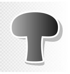 Mushroom simple sign new year blackish vector