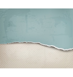 Old background with ripped paper and old wall vector image