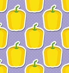 paprika pattern Seamless texture with ripe sweet vector image