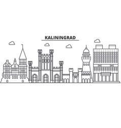 Russia kaliningrad architecture line skyline vector