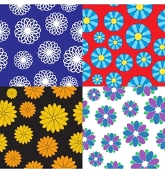 seamless flower patterns vector image
