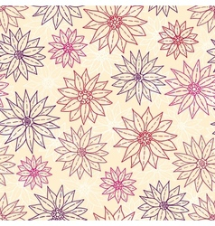 Seamless pattern graphic flowers vector image