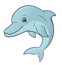 Smiling dolphin jumping 2 vector image