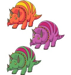Triceratops cartoon vector image