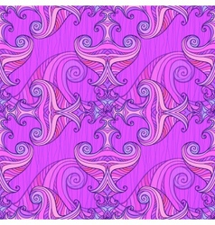 Violet waves seamless background vector image
