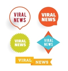 Viral news labels set vector