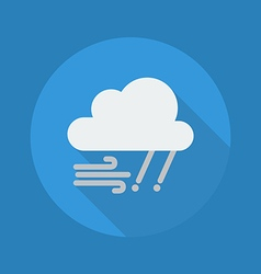 Weather flat icon rainy and windy vector