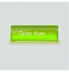 Realistic glass button for web interface vector
