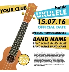 Ukulele show poster for your design battle live vector