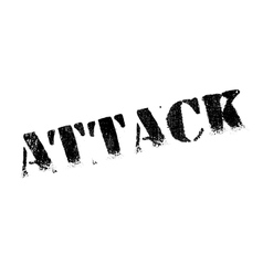 Attack rubber stamp vector