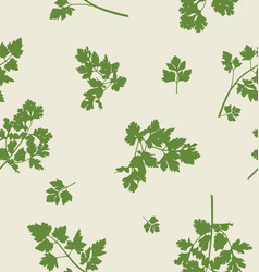 seamless pattern design with parsley leaves vector image