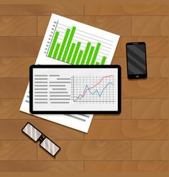 Economic and financial statistics vector