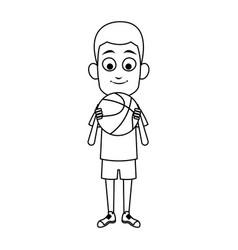 boy cartoon icon vector image