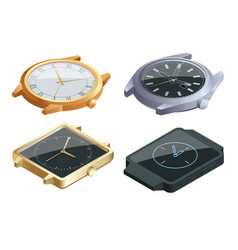 isometric set of of wristwatches isolated on white vector image