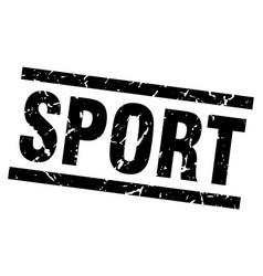 Square grunge black sport stamp vector