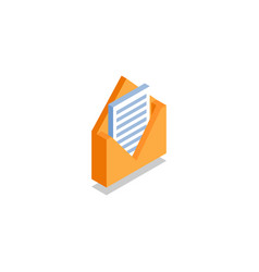 Envelope with letter message icon symbol vector