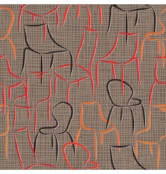 Seamless pattern with armchairs abstract vector