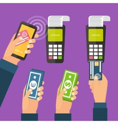 Mobile payments online banking vector