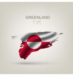 Flag of greenland as a country vector