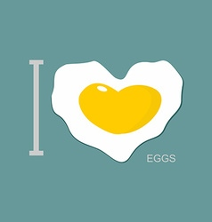 I love scrambled eggs scrambled eggs as a symbol vector