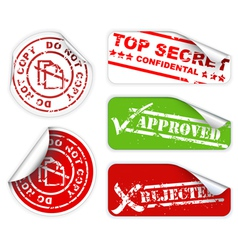 Top secret labels vector