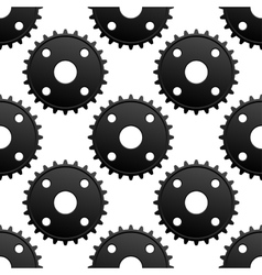 Paatern of black gears with frequent cogs vector