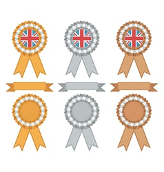Uk gold silver bronze vector