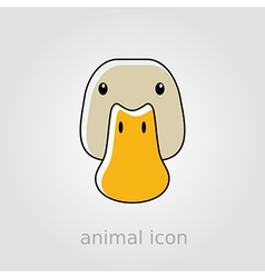 Duck icon farm animal vector