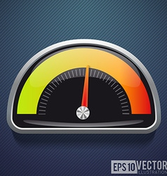 Speedometer realistic icon speed vector
