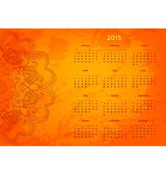 Abstract artistic arabesque 2015 year calendar vector
