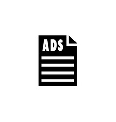 ads paper icon vector image vector image