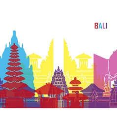 Bali skyline pop vector