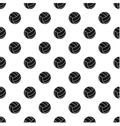 Black volleyball ball pattern vector
