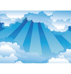 Blue Sky with Clouds4 vector image vector image
